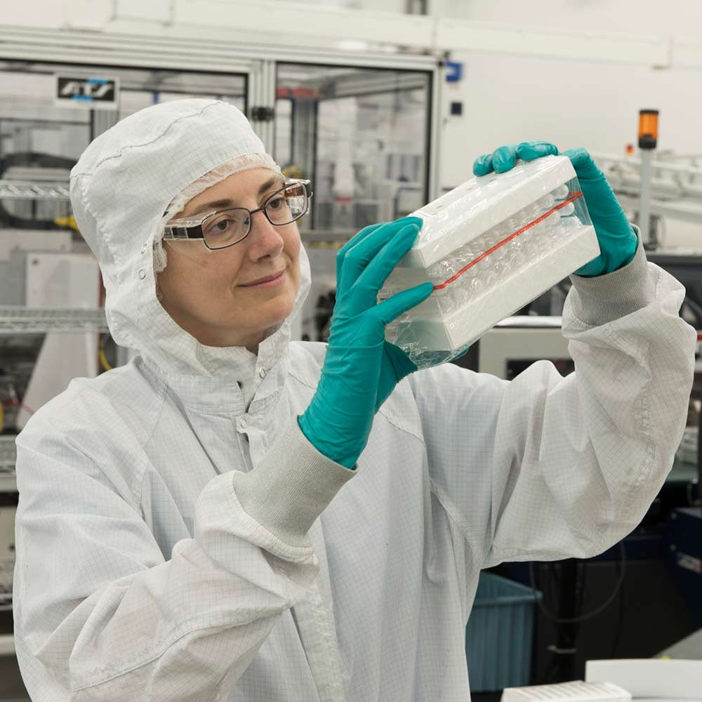 woman working in development lab