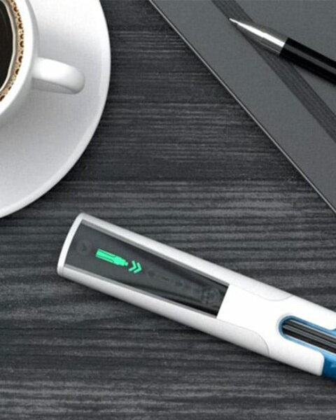 smart autoinjector on table